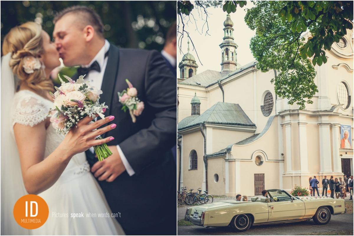 Milena i Daniel przed Kościołem