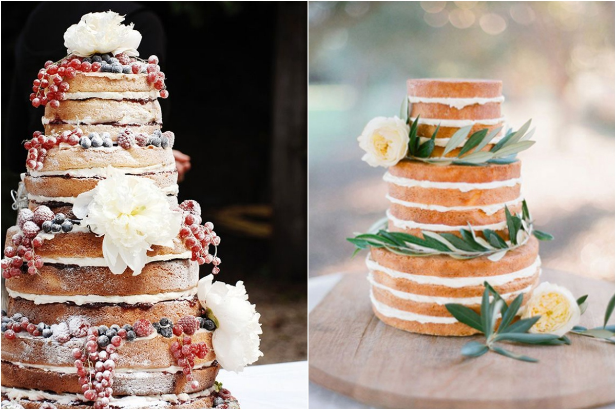 naked cake rustic