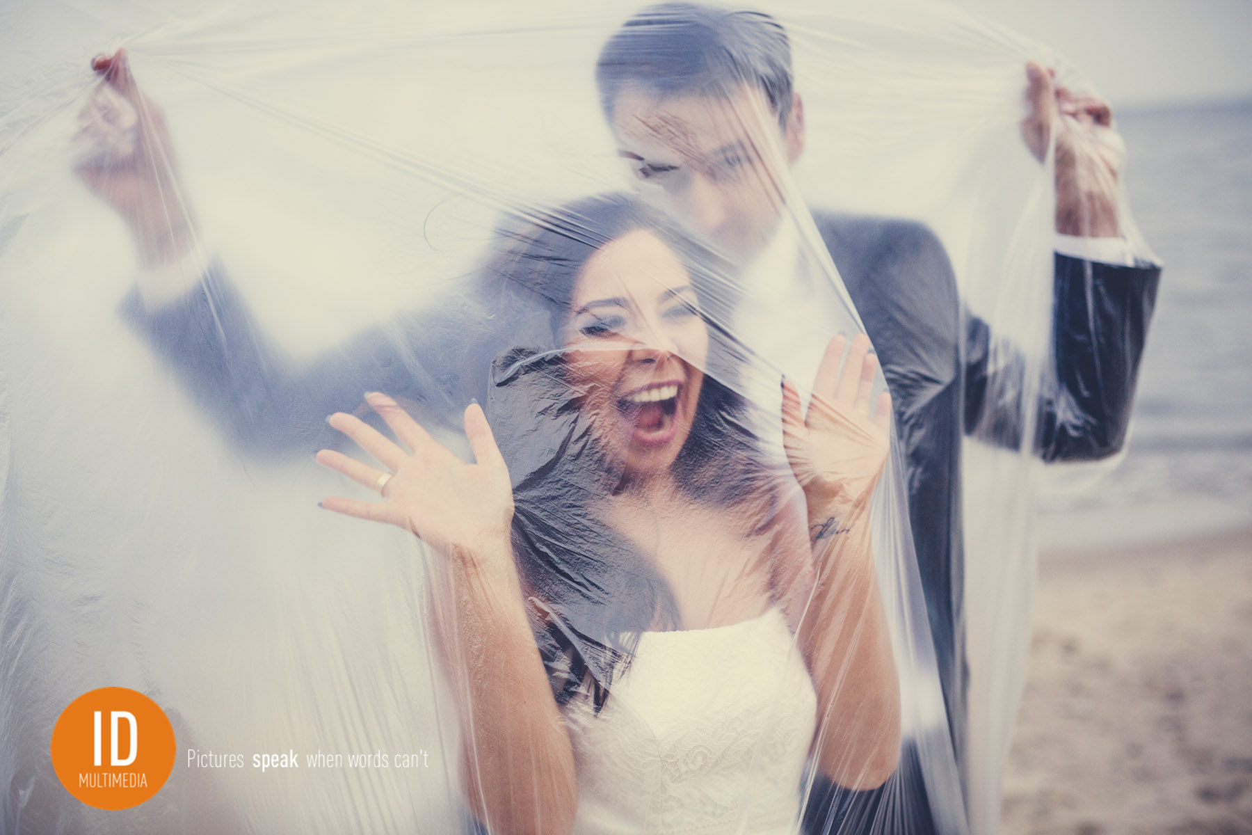 Zabawna sesja ślubna