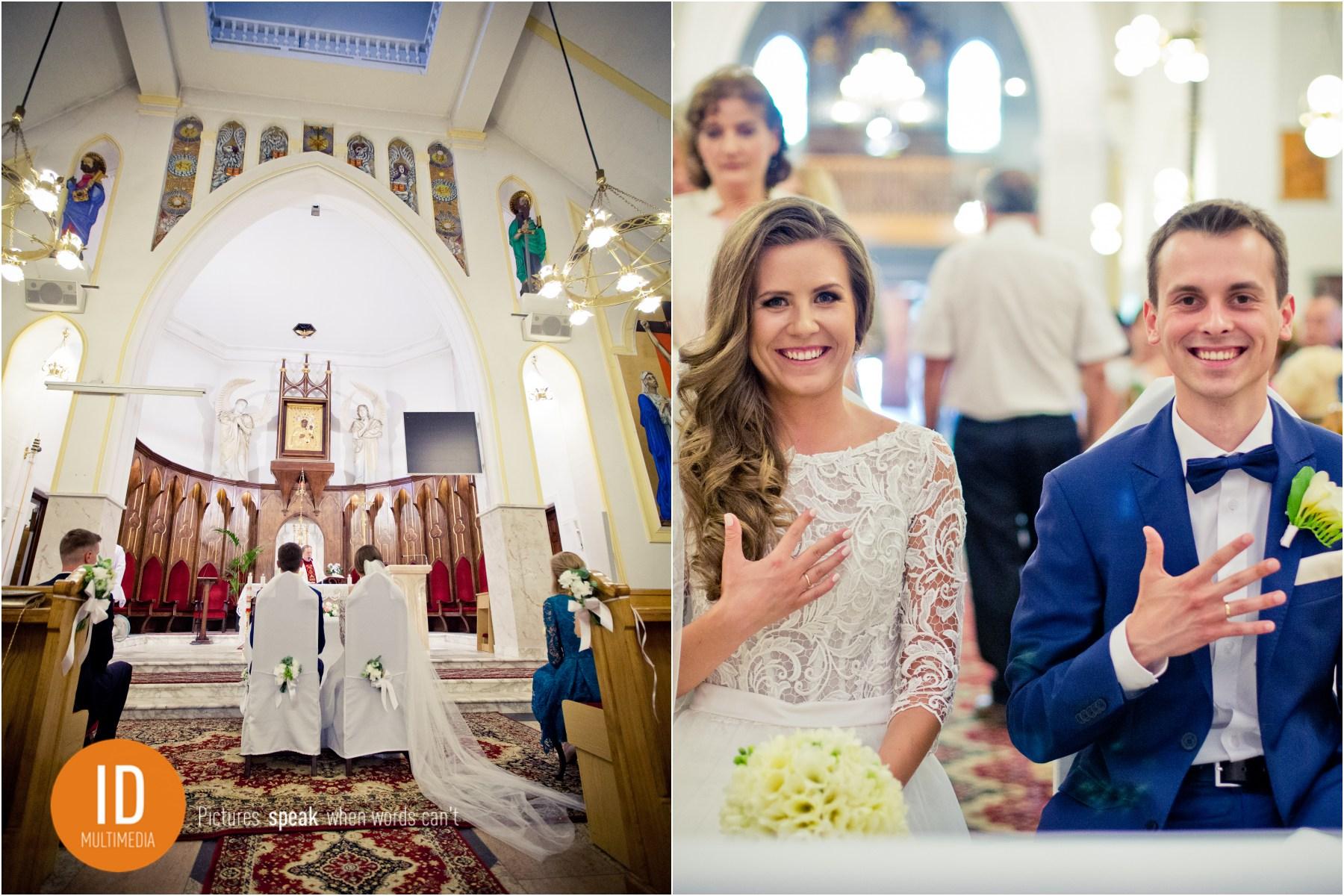Małżonkowie tuż po ślubie zdjęcia ślubne IdMultimedia