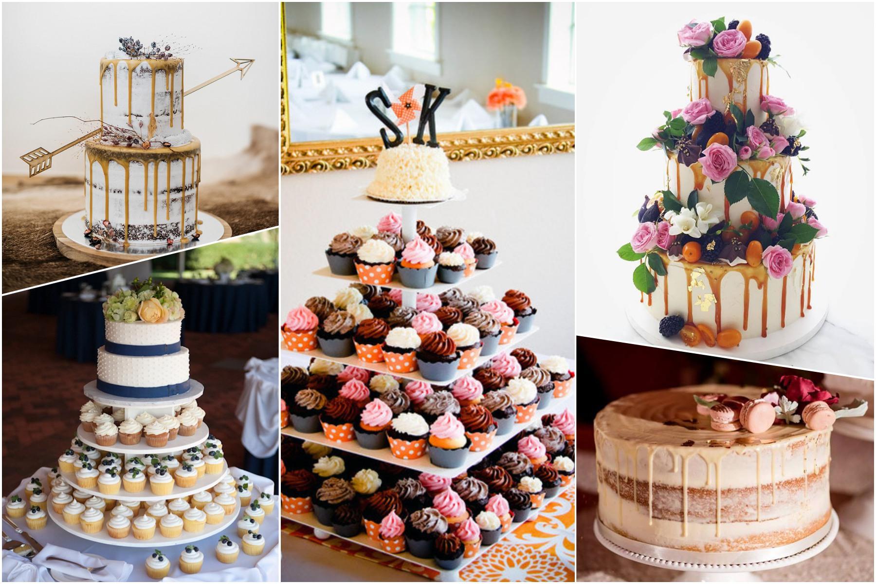 muffin cake, drip cake, naked cake