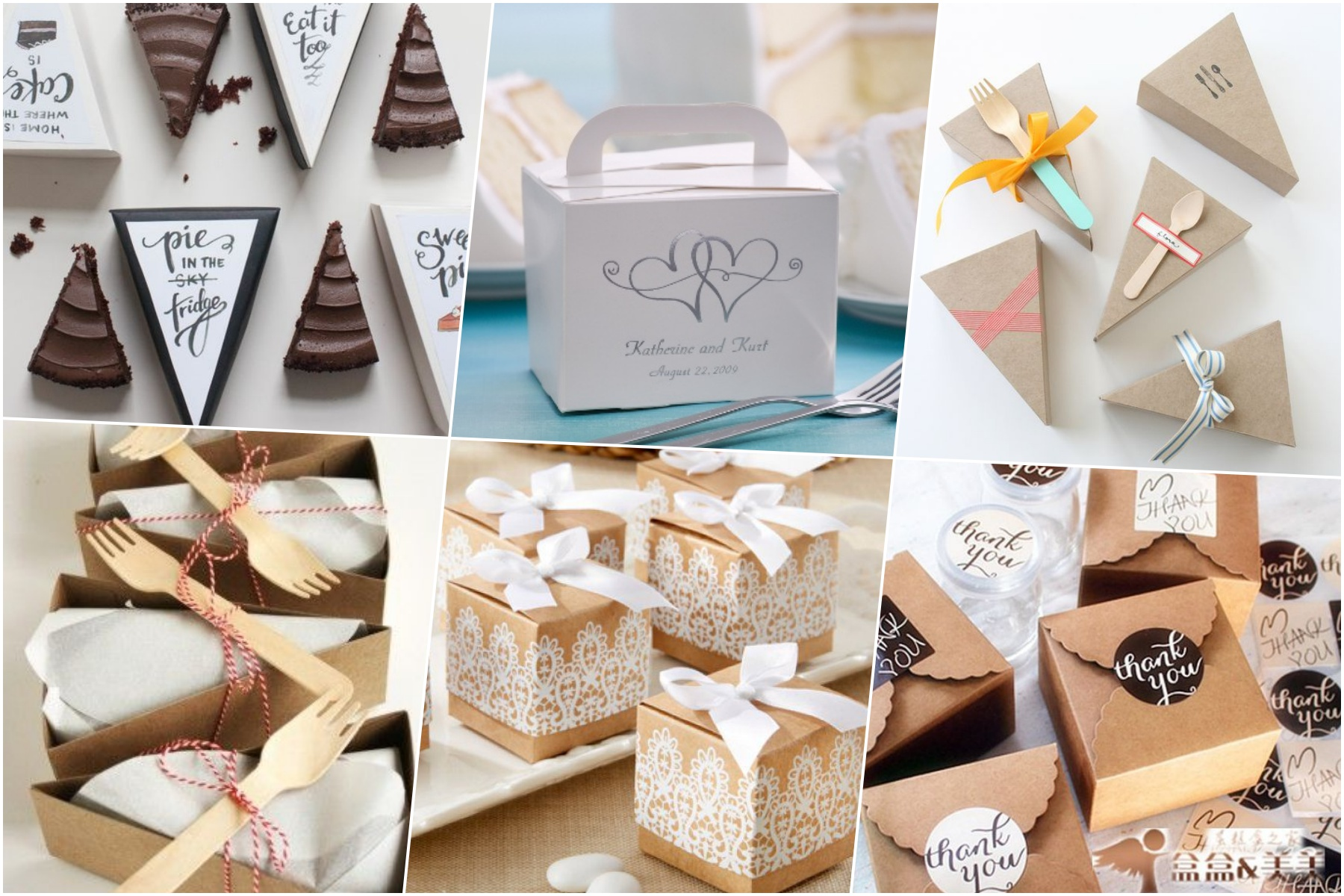 pudełka na tort weselny